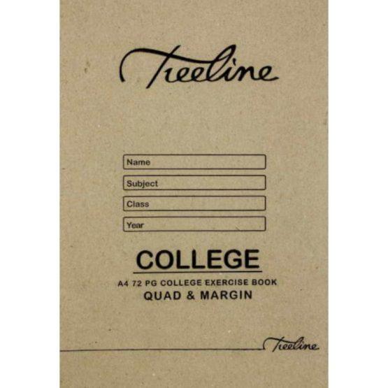 A4 College 72pg Quad and Margin