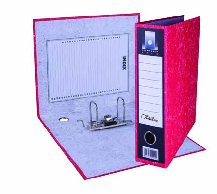 A4 Lever Arch Mottled Colour Board Red Combined 3