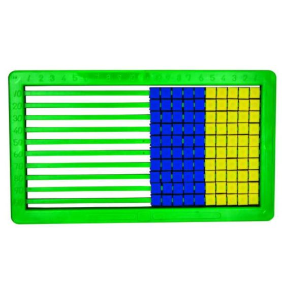 Abacus Plastic 100 Beads Green_1