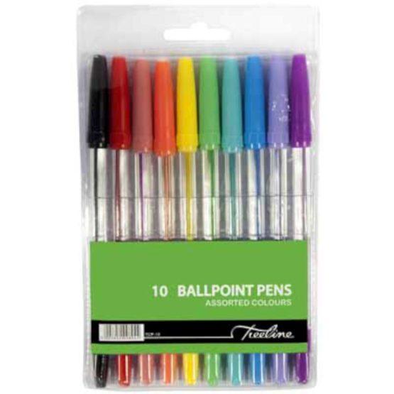 Colour Ballpoint Pens Wallet 10